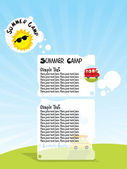 Illustration of summer camp — Stock Vector