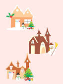 Vector christmas church icon — Stock Vector