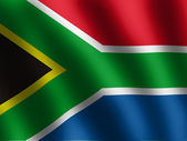 Waved Flag of South Africa — Stock Photo