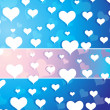 Wallpaper, falling hearts — Stock Vector #3105722