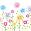 Stockvector : Flower pattern background