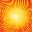 Trendy sunburst, vector illustration — Imagen vectorial