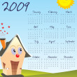 Royalty-Free Stock Vector Image: Vector, calendar for 2009