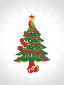 Wallpaper christmas tree — Stock Vector