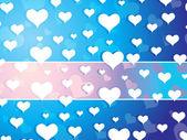 Tapeta, padající srdce — Stock vektor