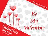 Behang voor dag van de valentijnskaart — Stockvector