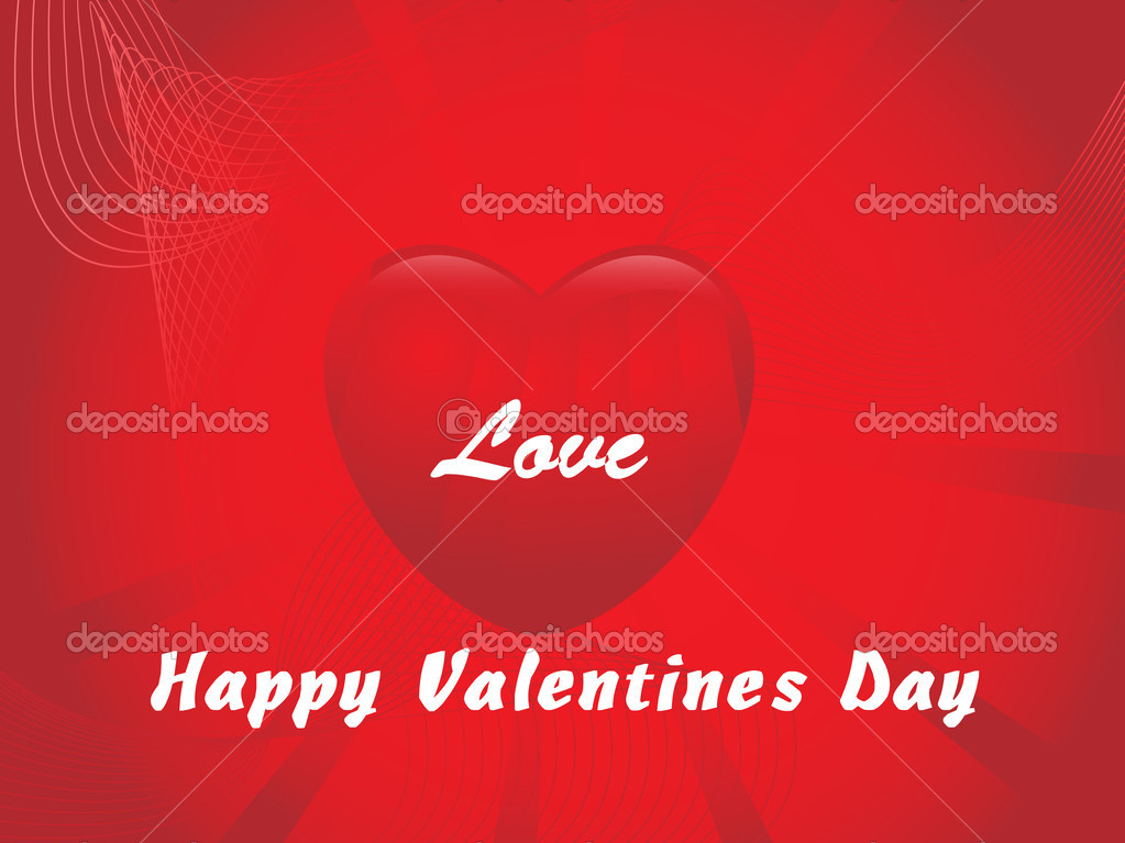Vector valentine background with heart, design3 — Stock Vector #3107045