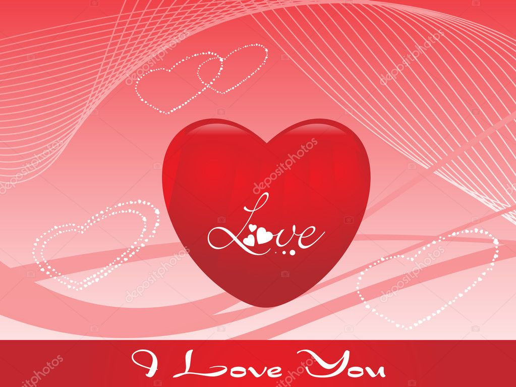 Vector valentine background with heart, design1  Stock Vector #3107048