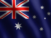 Waved Australian Flags — Stock Photo