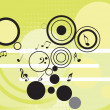 Royalty-Free Stock Vector Image: Tunes with circles pattern