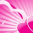 Two romantic pink hearts — Stock Vector #3111134