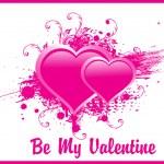 Two romantic pink hearts, wallpaper — Stock Vector