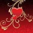 Background with decorated heart — Vector de stock #3111562