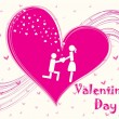 Vector de stock : Vector illustration for valentine day