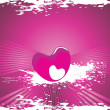 Valentines shining heart, banner42 - Stockvectorbeeld