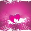 Valentines schijnt hart, banner42 — Stockvector