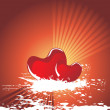 Royalty-Free Stock Vector: Valentines shining heart, banner33