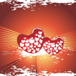 Valentines shining heart, banner41 - Stockvectorbeeld