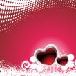 バレンタイン シャイニング ハート banner44 — ストックベクタ