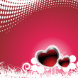Valentines shining heart, banner44 — Stock Vector