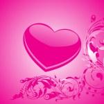 Valentines schijnt hart, banner59 — Stockvector
