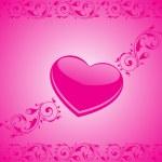 Валентина блестящими сердце, banner60 — Cтоковый вектор