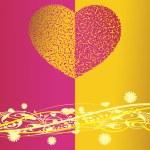 San Valentín brillante corazón, banner66 — Vector de stock