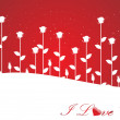 Valentines shining heart, banner96 - Stockvectorbeeld