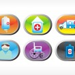 Stock Vector: Vector medical icon series
