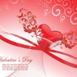 Stock Vector: Romantic background for valentine day