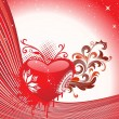 Vector de stock : Romantic background for valentine day