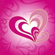 Vector de stock : Romantic pattern for valentine day