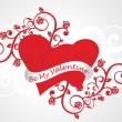 Romantic background for valentine day — Imagen vectorial
