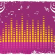 Stock Vector: Musical background
