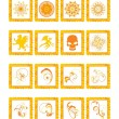 Royalty-Free Stock Vektorgrafik: Vector illustration post stamps, set38