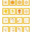 Royalty-Free Stock Vektorfiler: Vector illustration post stamps, set38