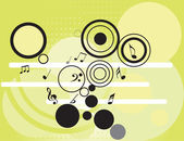 Tunes with circles pattern — Stock Vector