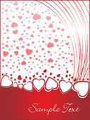 Valentines shining heart, banner78 — Stock Vector