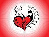 美しいロマンチックな図 — ストックベクタ