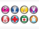 Vektor medizinische icon serie — Stockvektor