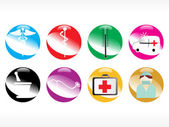 Vector medical icon series — Stock Vector