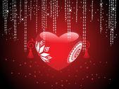Romantische achtergrond voor dag van de Valentijnskaart — Stockvector