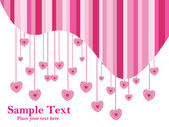 Pink heart with white background text — Stock Vector