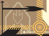 Background with arrowhead — Stock Vector
