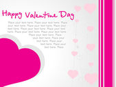 Vector banner of pink hearts theme — Stock Vector