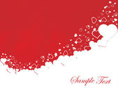 Vector valentines ornament heart — Stock Vector