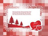 Vector christmas card for your love — Stock Vector