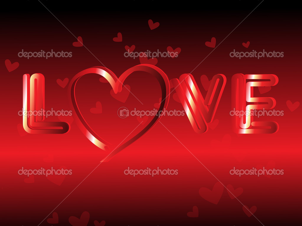 Abstract romantic macro background with love — Stock Vector #3111598