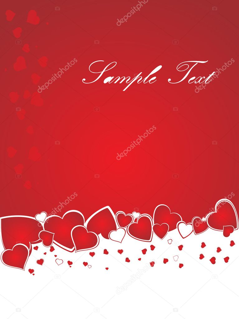 Valentines shining heart, banner72  Stock Vector #3111805
