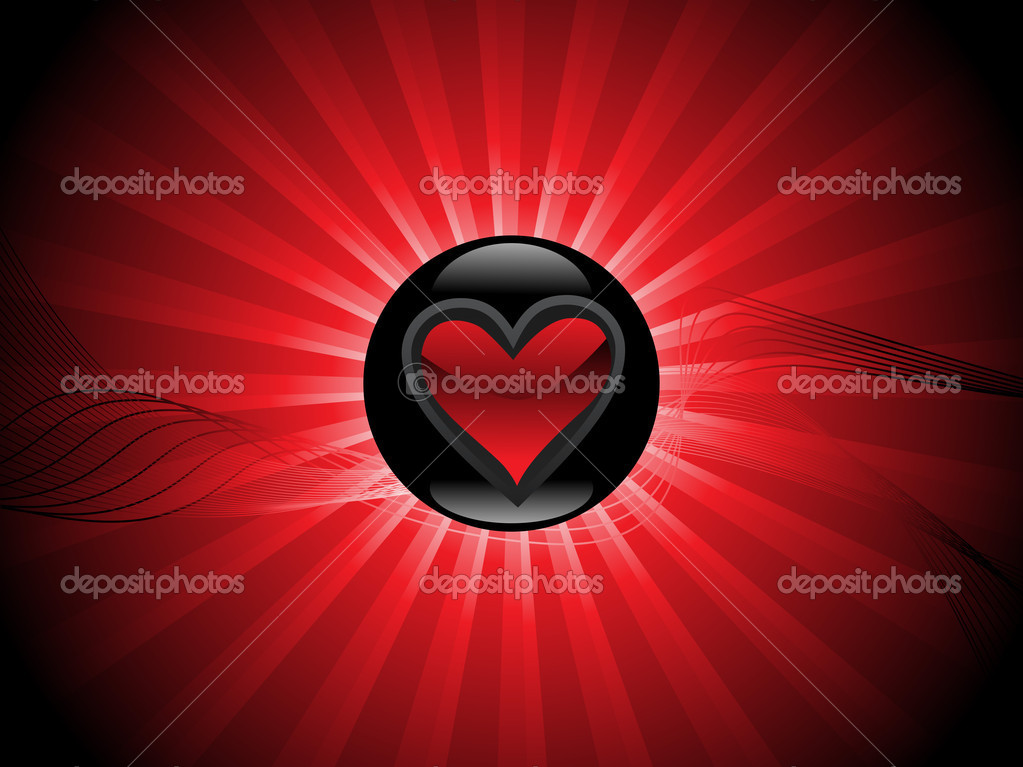 Valentines shining heart, banner70 — Stock Vector #3111812
